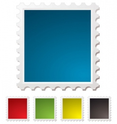 blank stamp vector image vector image