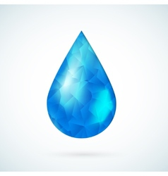 Blue raindrop geometric background vector image vector image