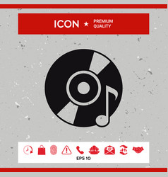 cd dvd with music symbol vector image