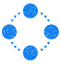 circular relations grunge icon vector image