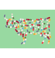 cow antibiotic resistance vector image vector image
