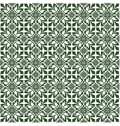 Dark green damask decorative pattern background vector