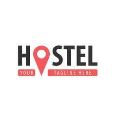 Hostel logo hotel logo travel rest place vector