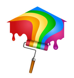 house painting roller vector image vector image