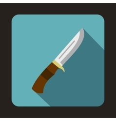 Hunting knife icon flat style vector
