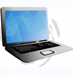 laptop and internet vector image vector image