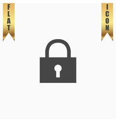 Lock pad icon vector