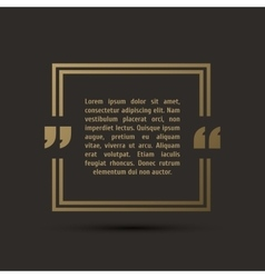 Quote modern template on background vector image vector image
