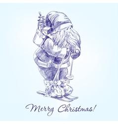 Santa Claus hand drawn llustration vector image vector image