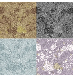 Set of seamless abstract stone pattern vector image
