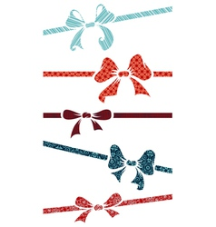 Silhouettes bows vector image