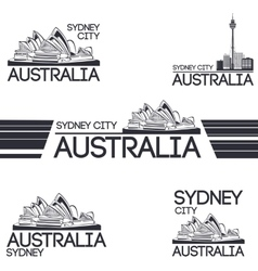 Sydney city set vector