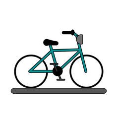 Teal bicycle design vector