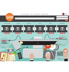 Website template flat design vector