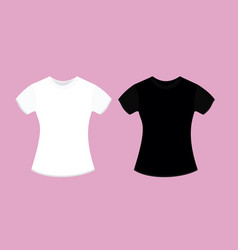 woman t-shirt design template vector image