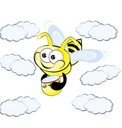 worker bee cartoon vector image vector image