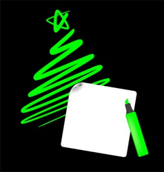 Abstract christmas tree the simple draw vector
