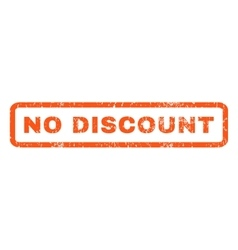 No discount rubber stamp vector