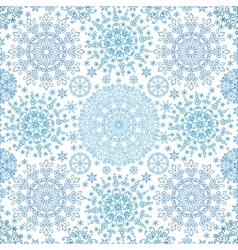 Snowflakes lace symmetry seamless pattern vector