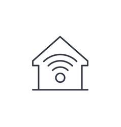 Smart home wireless technology digital house vector