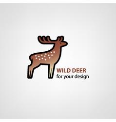 Wild deer icon vector