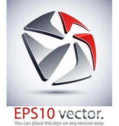 3d modern pentagonal logo icon vector