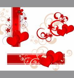 Valentines day banner set vector