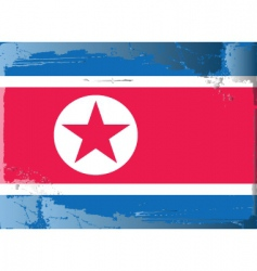 North korea national flag vector