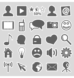 Web and social networks set of stickers eps10 vector