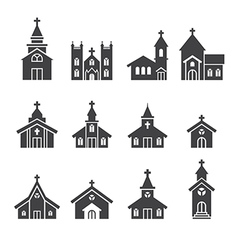 Church building icon vector