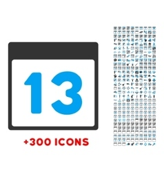 Thirteenth day icon vector