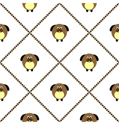 Seamless pattern with animals cute dogs vector