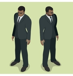 Black man security guard security guard face vector
