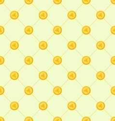 Seamless simple pattern with golden coins for st vector