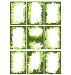 Green borders or frames vector