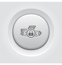 Loan protection icon vector