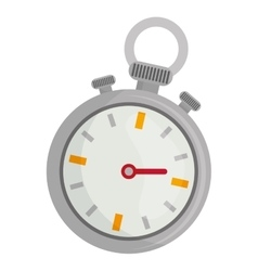 Time and clock isolated flat icon vector