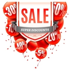 Sale banner with balloons vector