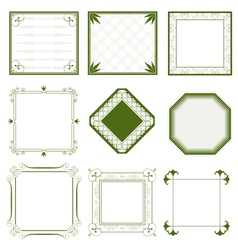 abstract vintage frames vector image vector image