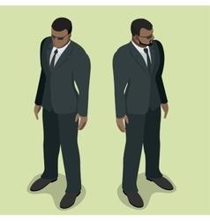 Black man security guard security guard face vector