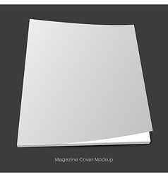 Blank brochure or magazine mockup vector