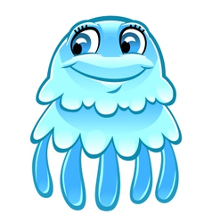 Cartoon jellyfish vector