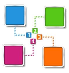 Diagram template vector image vector image