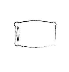 figure nice soft pillow to comfortable sleep vector image