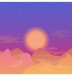 Flat landscape background vector