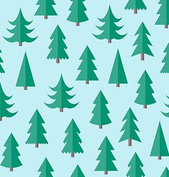 Flat seamless pattern with cristmas trees vector image