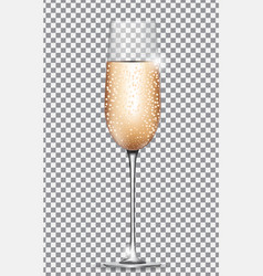 Glass of champagne on on transparent background vector