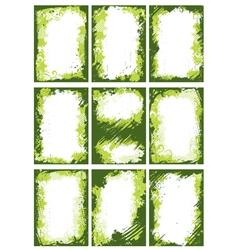 Green borders or frames vector