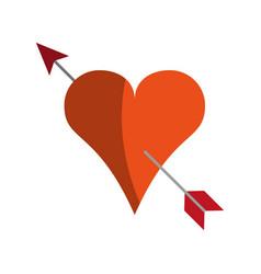 Heart cartoon love icon image vector