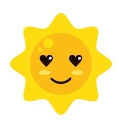 kawaii sun icon vector image